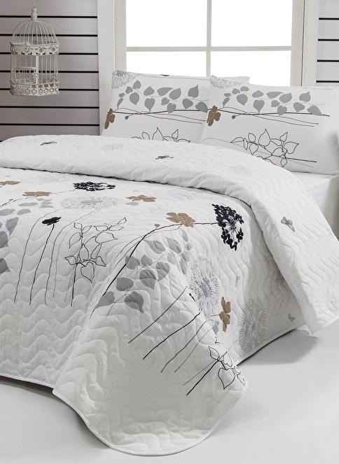 Eponj Home Tek Kişilik Yatak Örtüsü Seti Beyaz